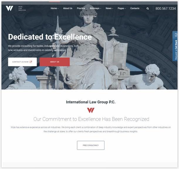 Law Services-Lawyer & Attorney Business WordPress