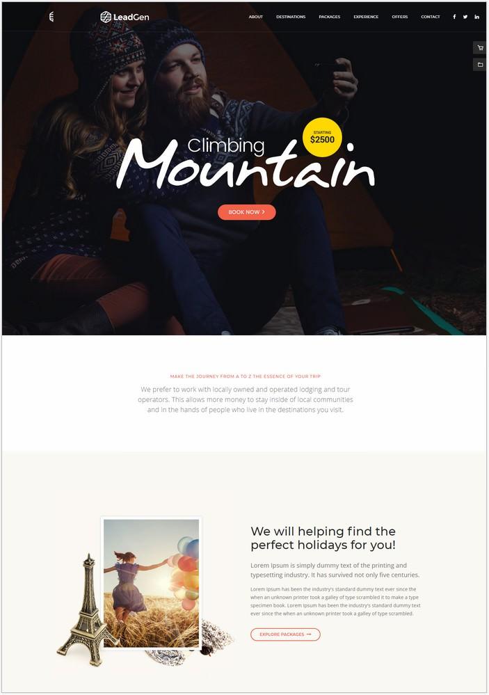 LeadGen - Travel Agency Website Template