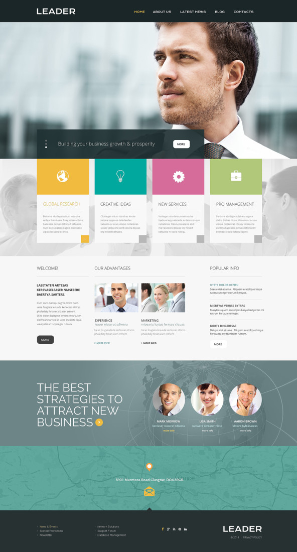 Leader Consulting Responsive Website Template