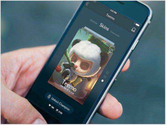 League Of Legends App Concept