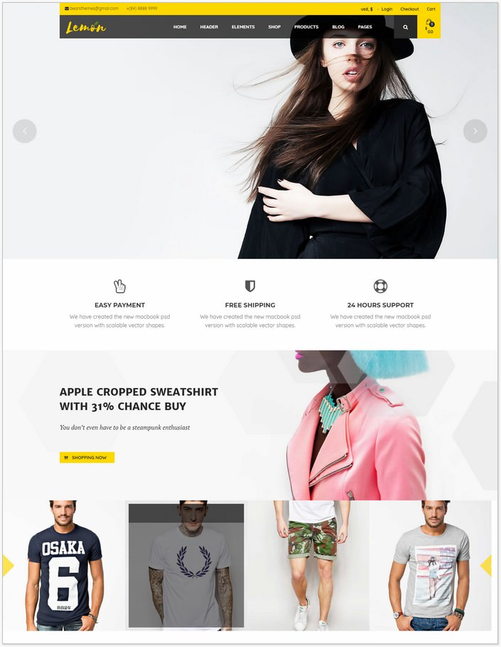 Lemon Fashion WooCommerce WordPress PHP Theme