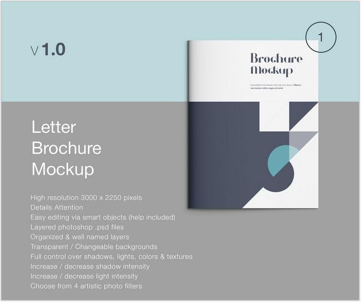 Letter Brochure Psd Mockup