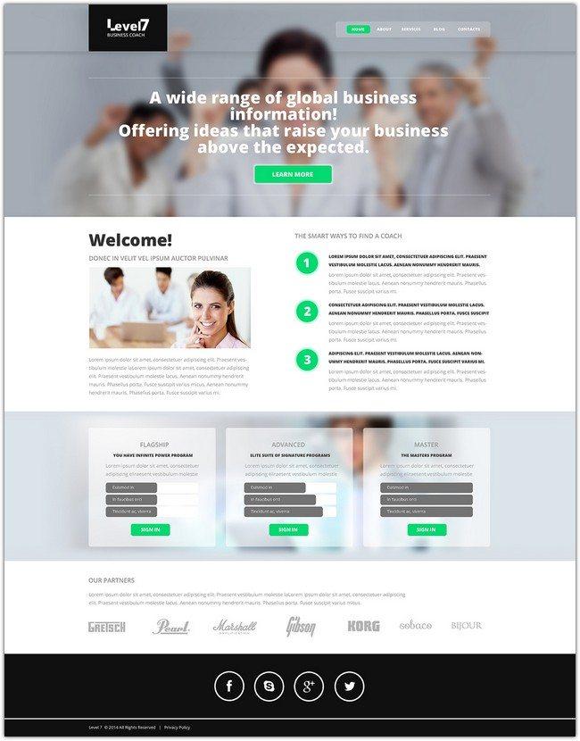 Leval 7 Business School Responsive Website Template
