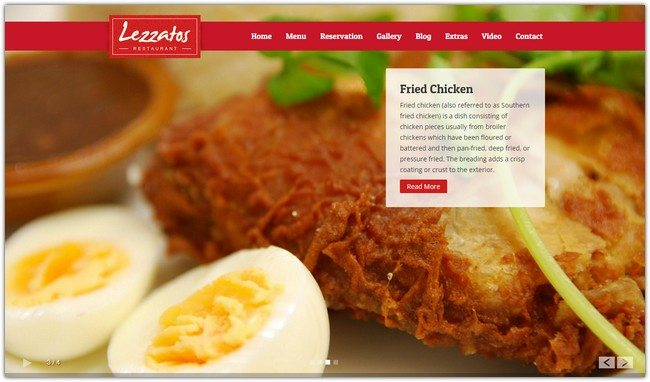 Lezzatos Restaurant Responsive WordPress Theme