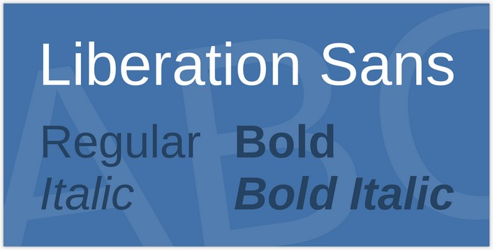 Liberation Sans Font Family