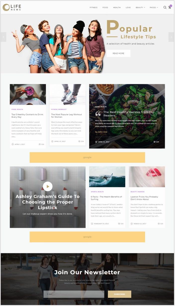 Life News Website Template