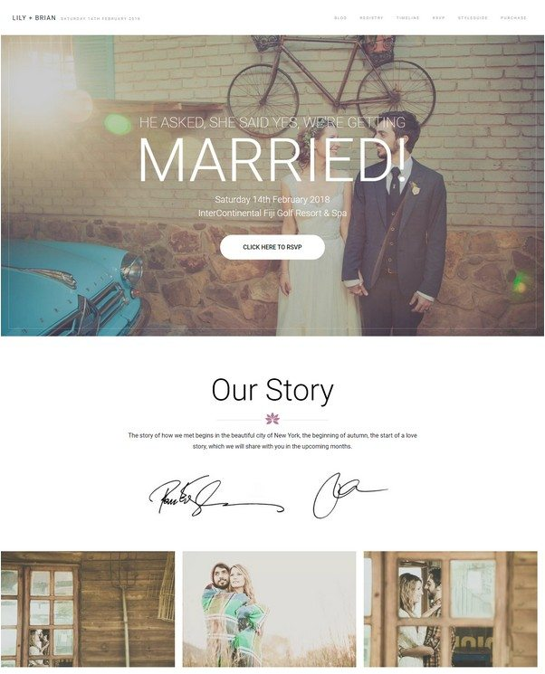 Lily - WordPress Wedding Theme