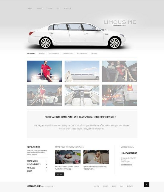 Limousine Responsive WordPress Theme