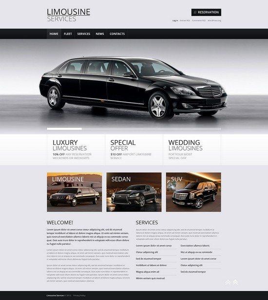 Limousine Services Ready-to-Use WordPress Theme