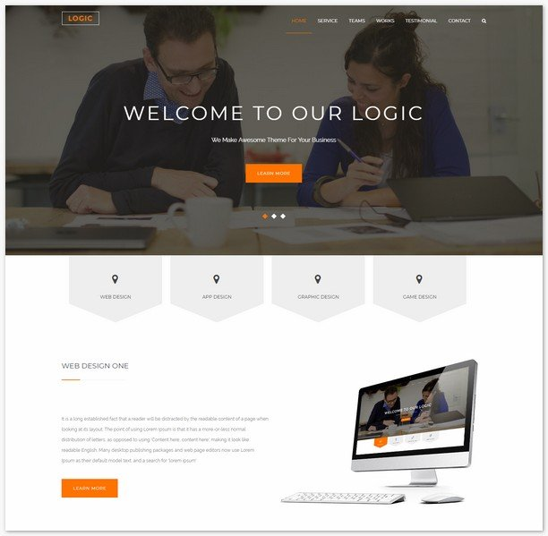 Logic - Free Bootstrap HTML5 Responsive Multipurpose Website Template