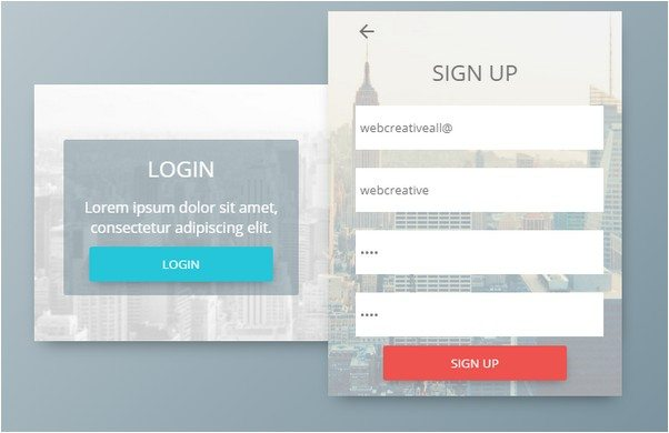 CSS3 HTML5 Login Form template