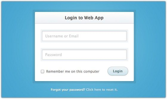 Login To Web App Form