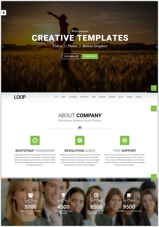 Loop - One Page Multipurpose Website Template