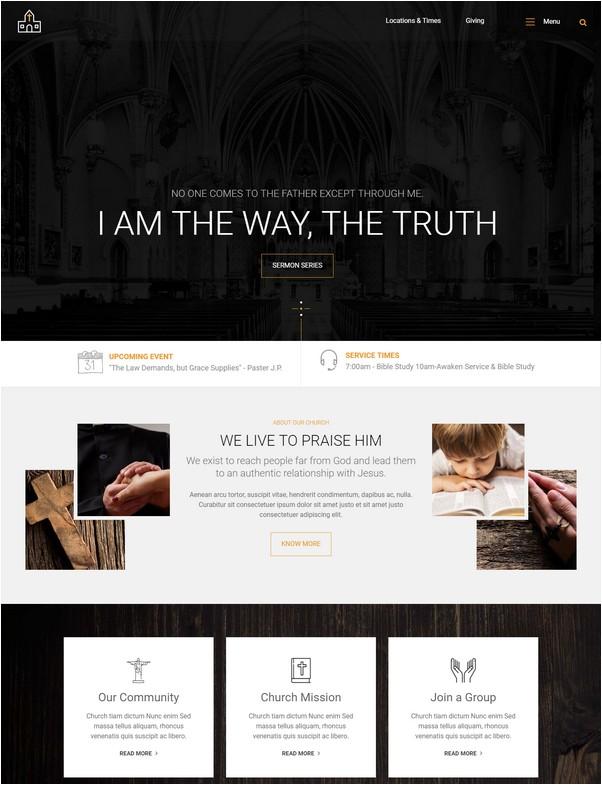 Lord Church Responsive Church Website Template