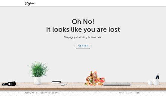 Lost – Responsive 404 Error Template