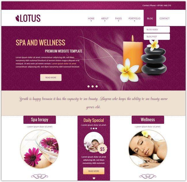 Lotus – Spa & Wellness HTML Responsive Template
