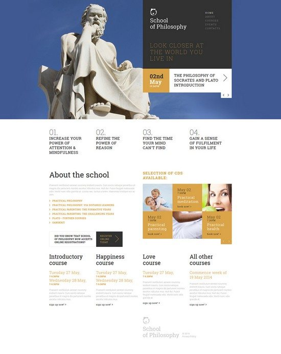 Love of Wisdom School Joomla Template
