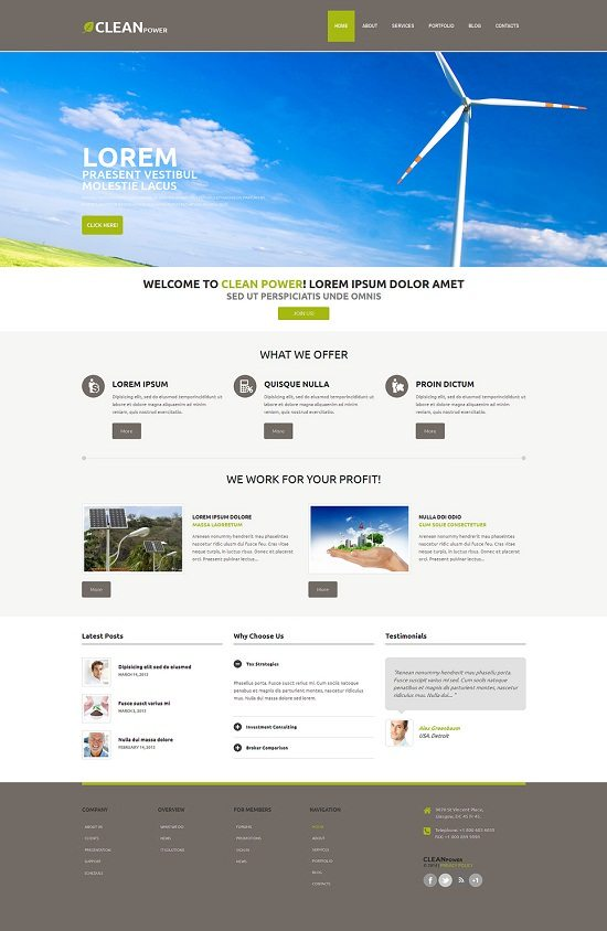 Lucrative Investing WordPress Theme