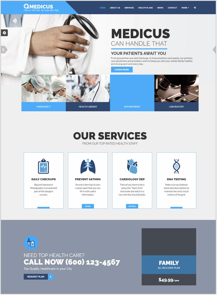 MEDICUS - Medical Clinic HTML
