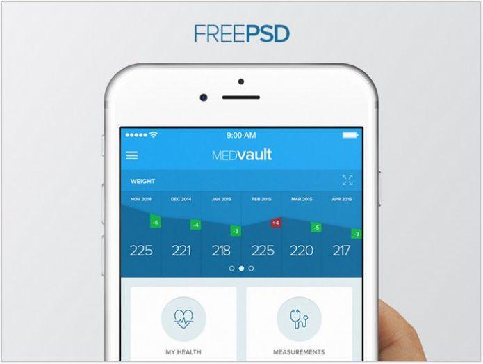 MEDvault – Free App PSD
