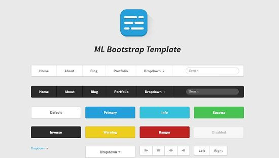 ML Bootstrap Template