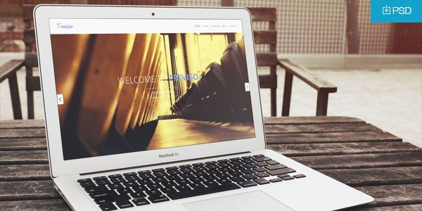 MacBook Air Mockup PSD