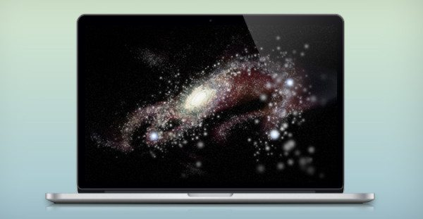 MacBook Pro with Retina Display PSD