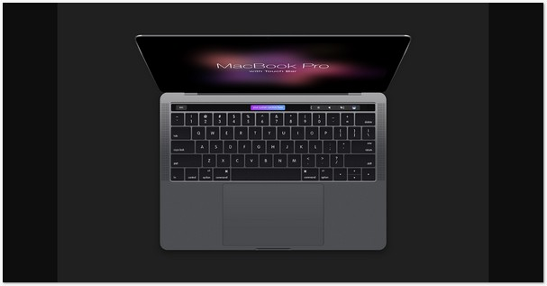 MacBook Pro with Touch Bar Mockup