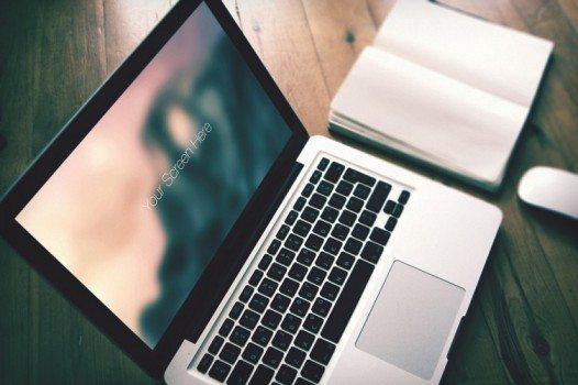Macbook pro photorealistic mockup set