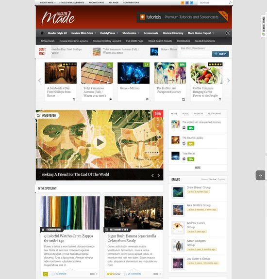 Made Responsive Review Magazine Theme