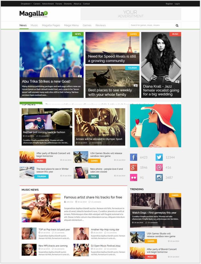 Magalla - News Blog HTML Template