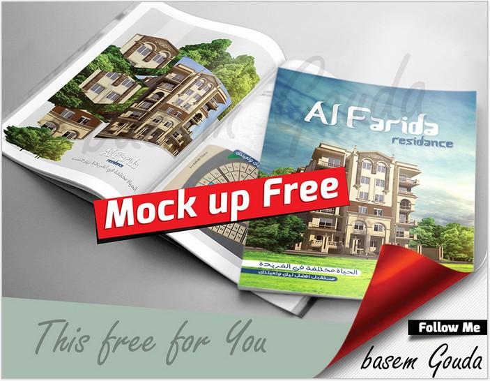 Magazine Brochure Mock up psd Free