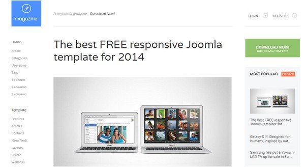 Magazine Free Joomla Template For Blog