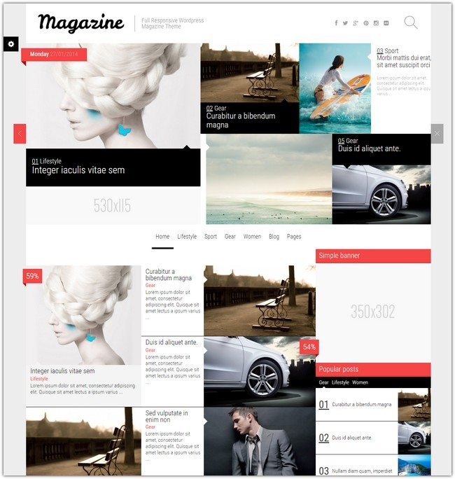 Magazine - News Blog Review Theme
