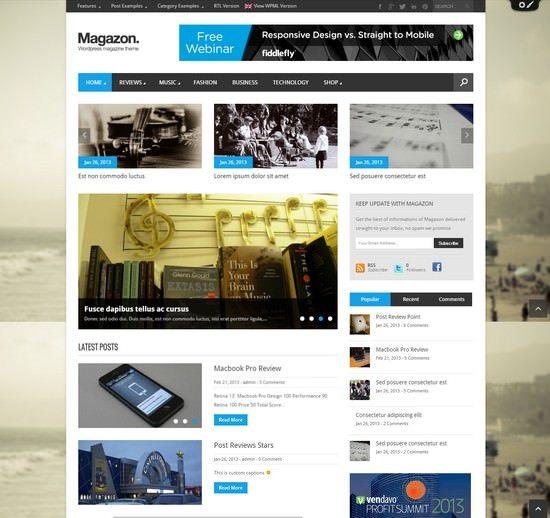 Magazon - Advanced, Responsive WP Magazine Theme