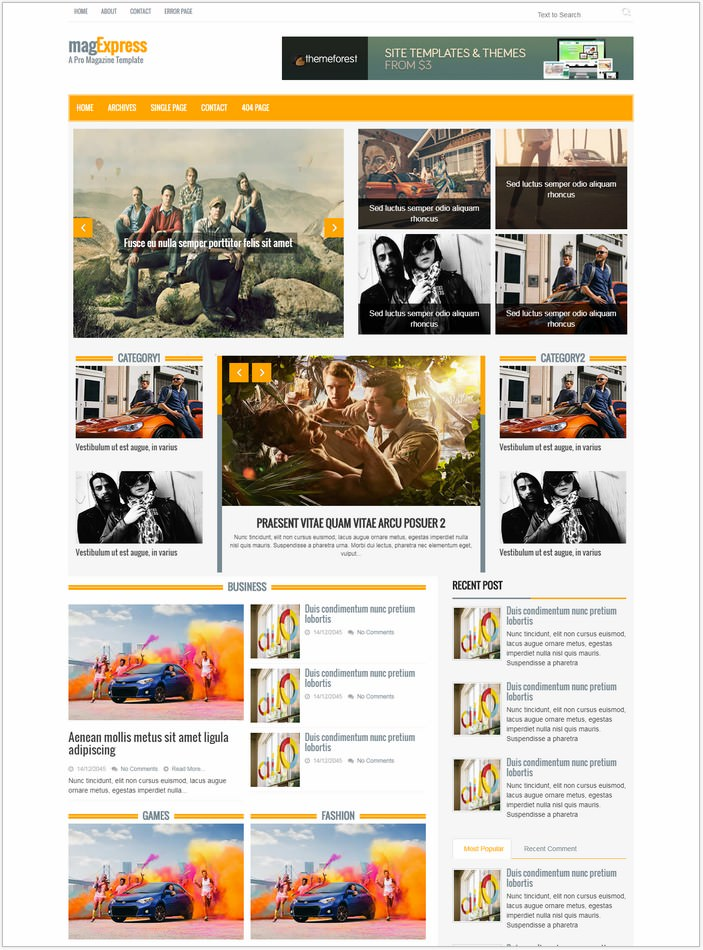 Magexpress Website Template