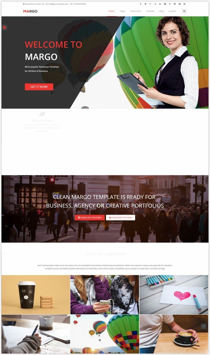 Margo – Free Multi-Purpose Bootstrap Template
