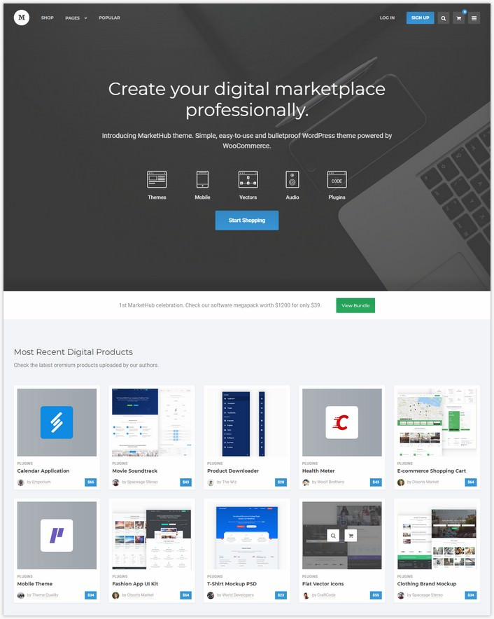 MarketHub - Marketplace WordPress Theme