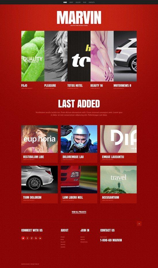 Marvin Design Studio Responsive Website Template