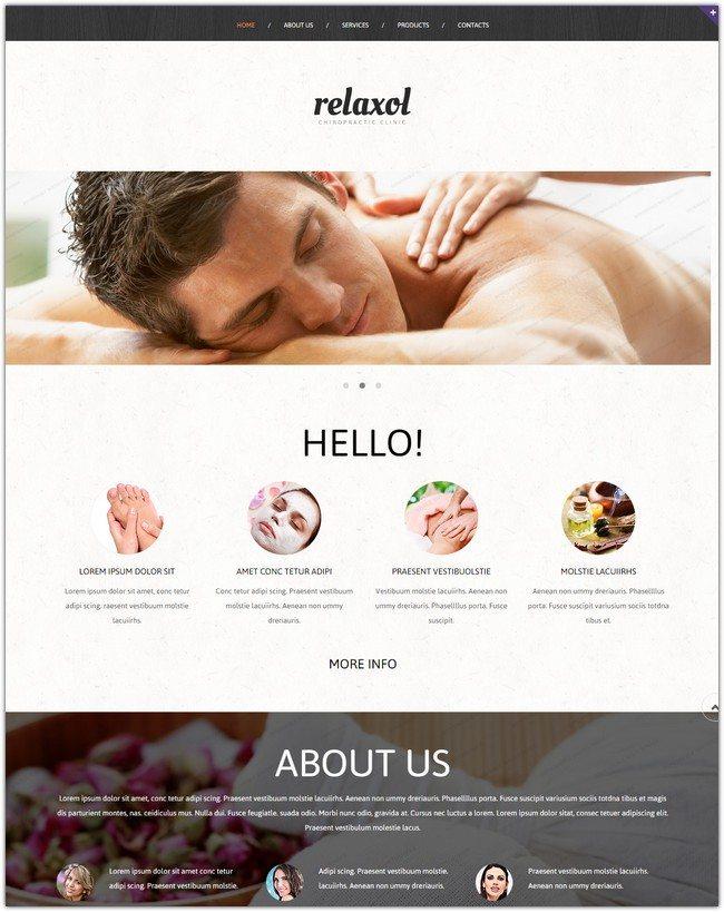 Massage Salon Responsive Website Template