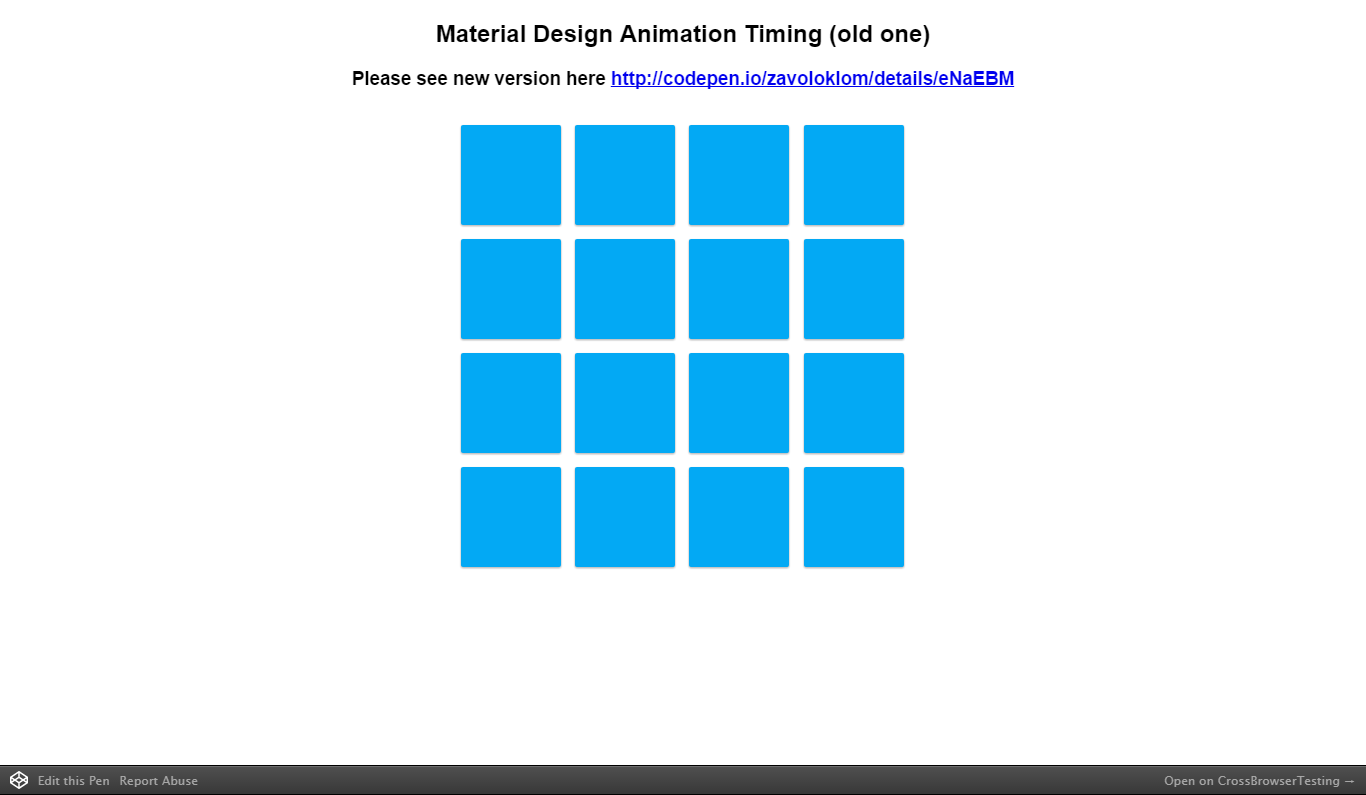 Material Design Animation Timing