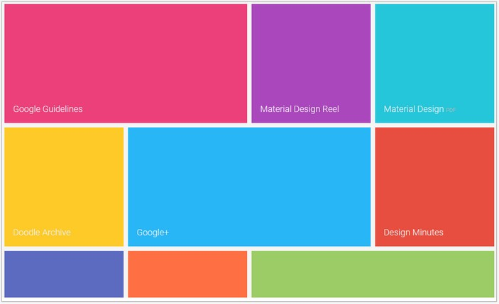 Material Design (CSS-based) – Tiles