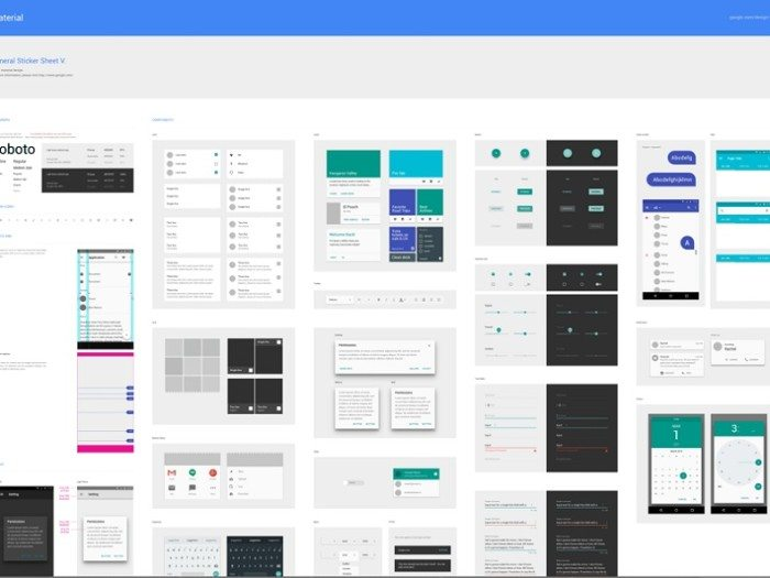 Material Design by Google .sketch resource