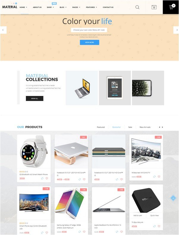 Material - Electronics WooCommerce WordPress Theme