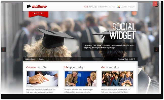 Matheno Best Education Template
