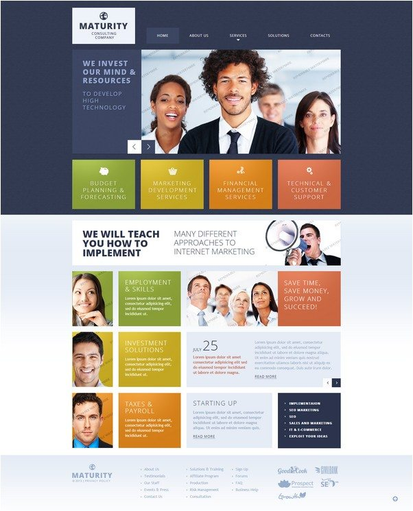 Maturity Consulting Responsive Website Template