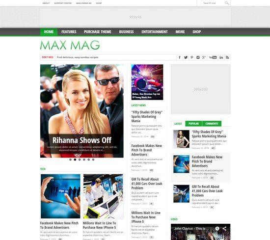Max Mag – Responsive WordPress Magazine Theme