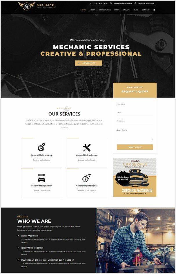 Mechanic - Car Service & Workshop WordPress Theme