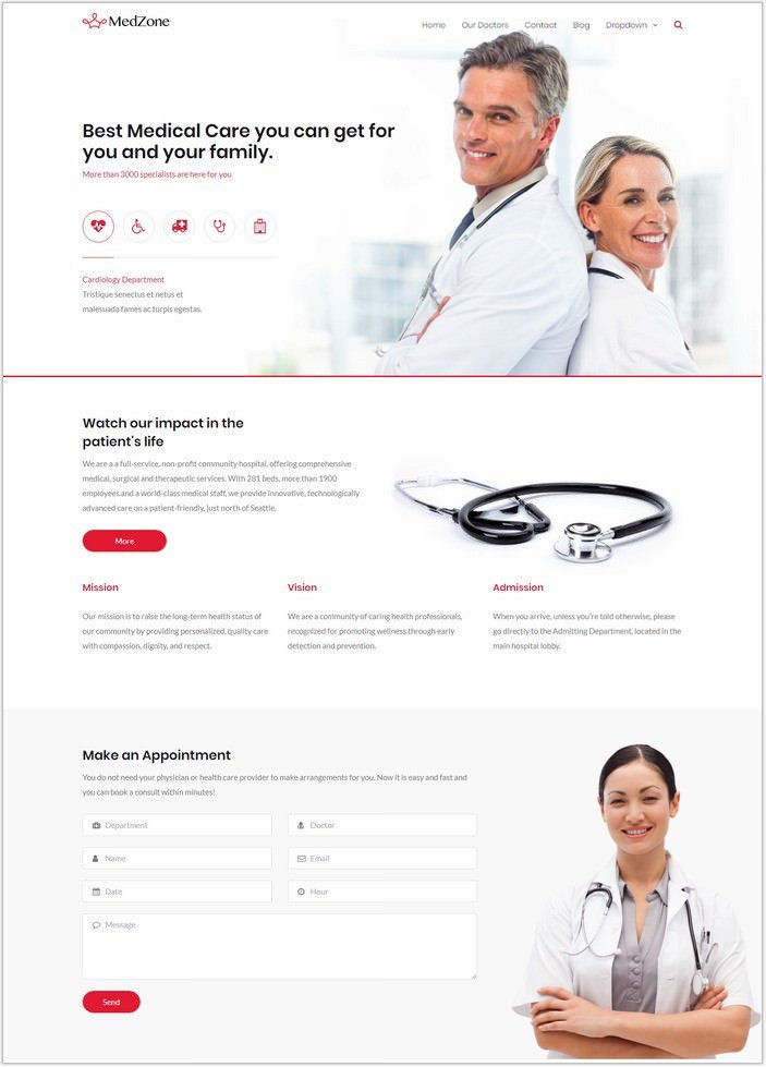 MedZone PRO Medical WordPress PHP Theme