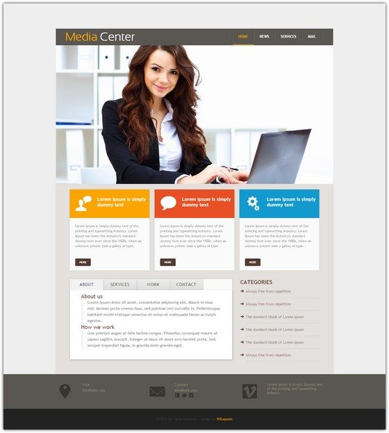 Media Center web Template